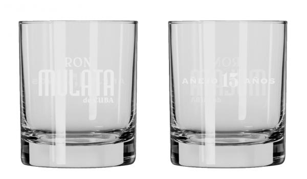 Ron Mulata 15 anejo Shot Gläser