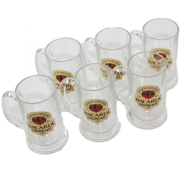 Bacardi Oakheart Rum Krug Cocktail Longdrink Glas