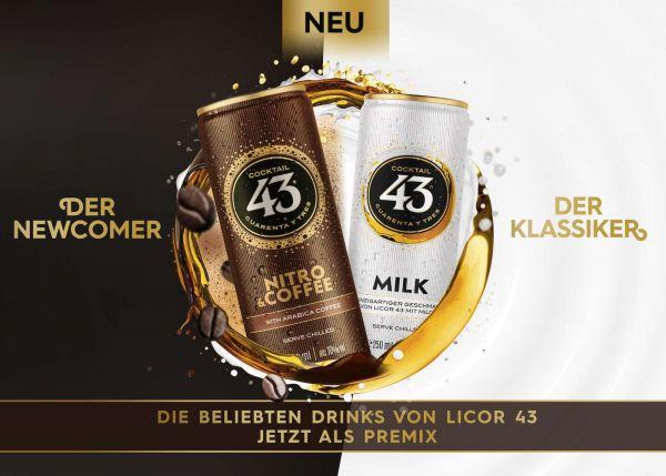 Cocktail 43 Milk & Cocktail 43 Nitro & Coffee 12 - Dosen Bundle