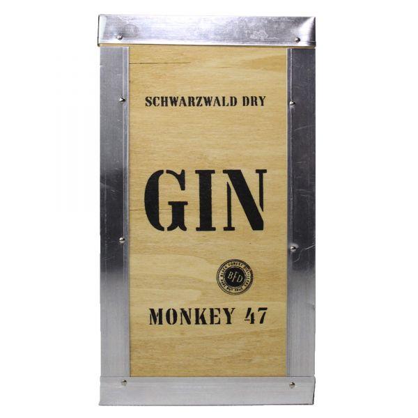 Monkey 47 Schwarzwald Dry Gin Geschenk Holzkiste