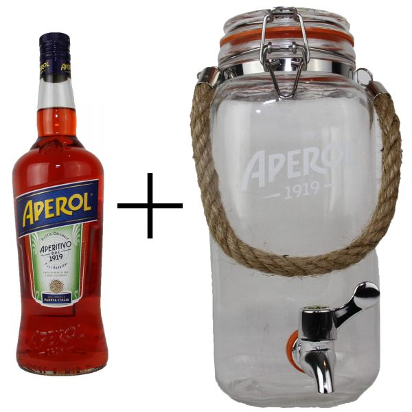 Aperol 2x 1 Liter + Table Barrel
