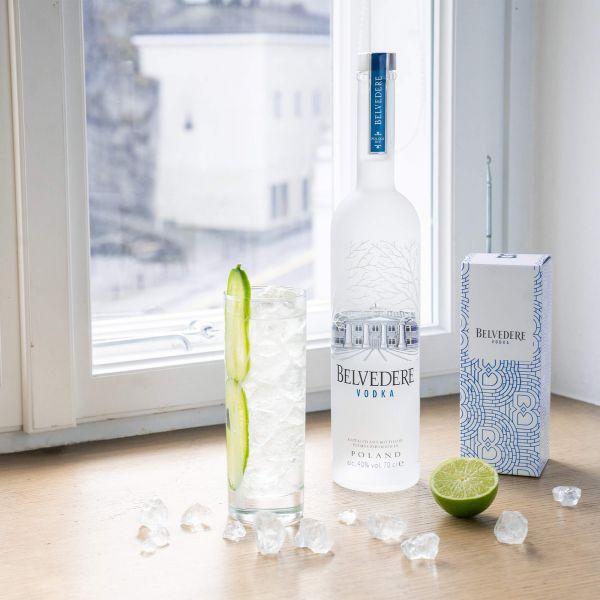 Belvedere Pure Vodka + 2 Gläser