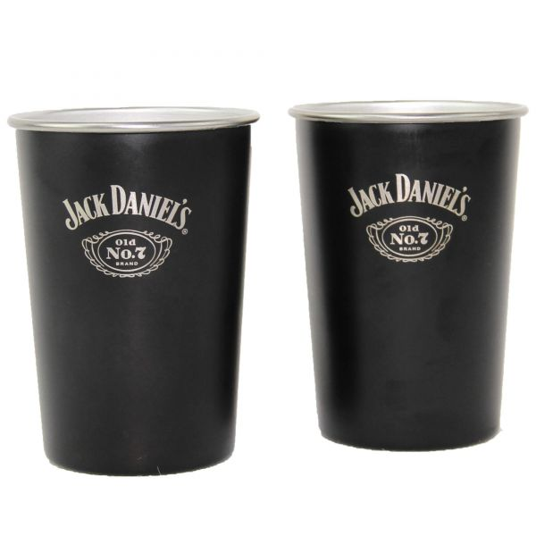 Jack Daniel's Tennessee Whiskey Alu Becher 2er Set
