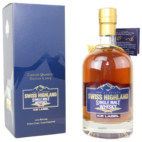 Swiss Highland Single Malt Whisky Ice Label Edition II 2014