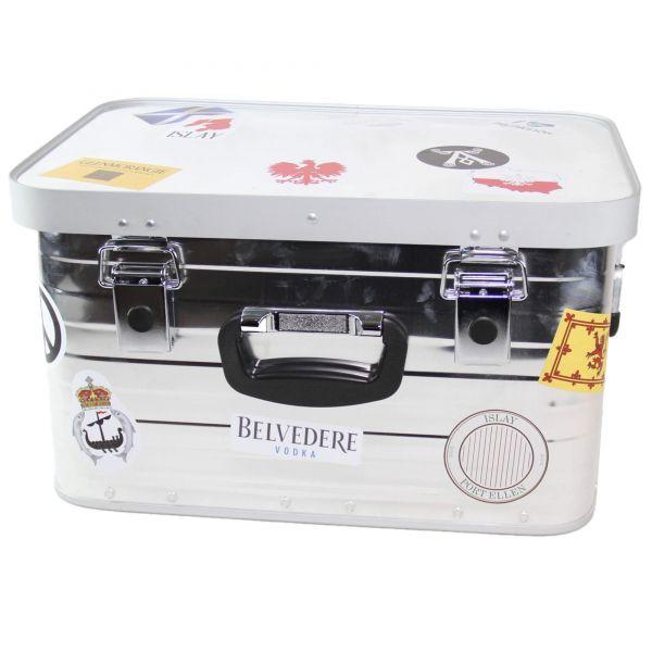 Alu Reisebox Belvedere Glenmorangie Ardbeg Branding