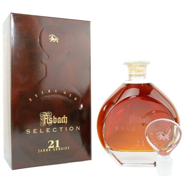 Asbach Selection 21 Jahre Glaskaraffe